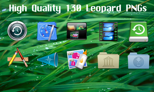 130 Leopard Icons by CreativePixel
