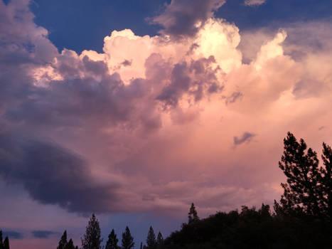 The sky during dusk