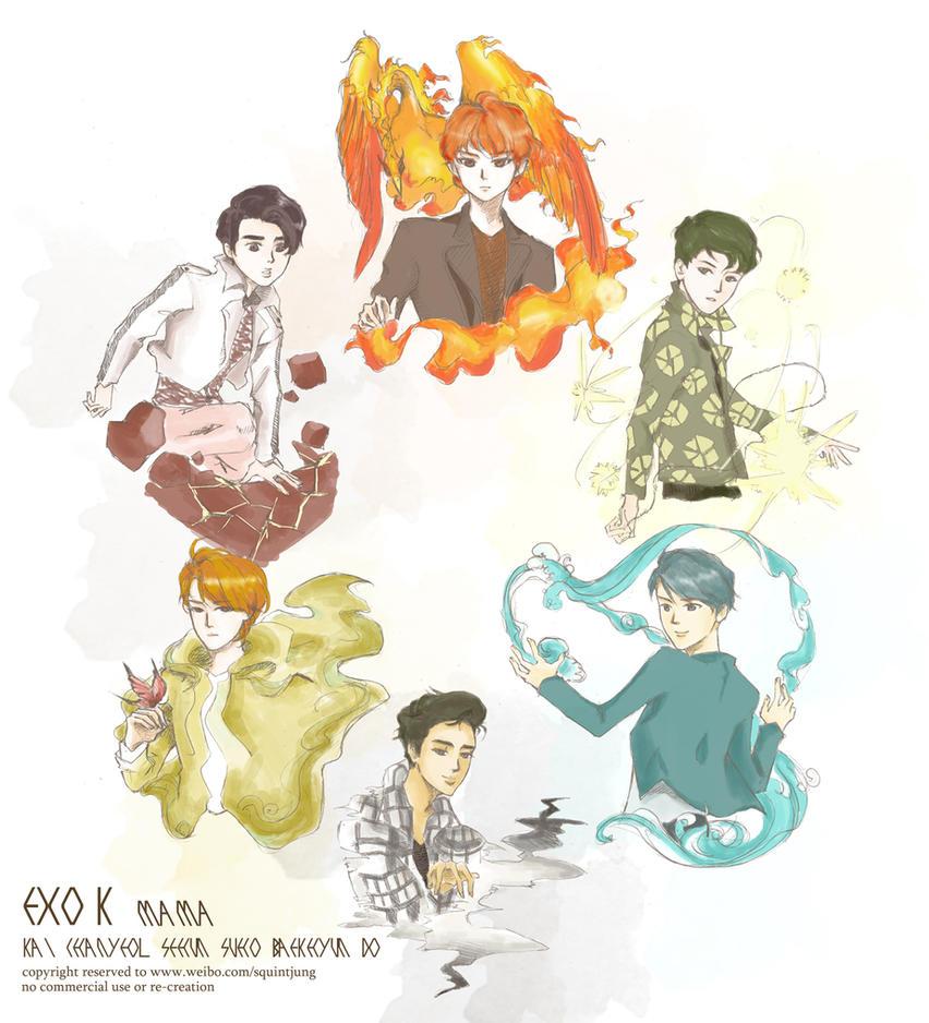 EXO-K-MAMA by miyala0401
