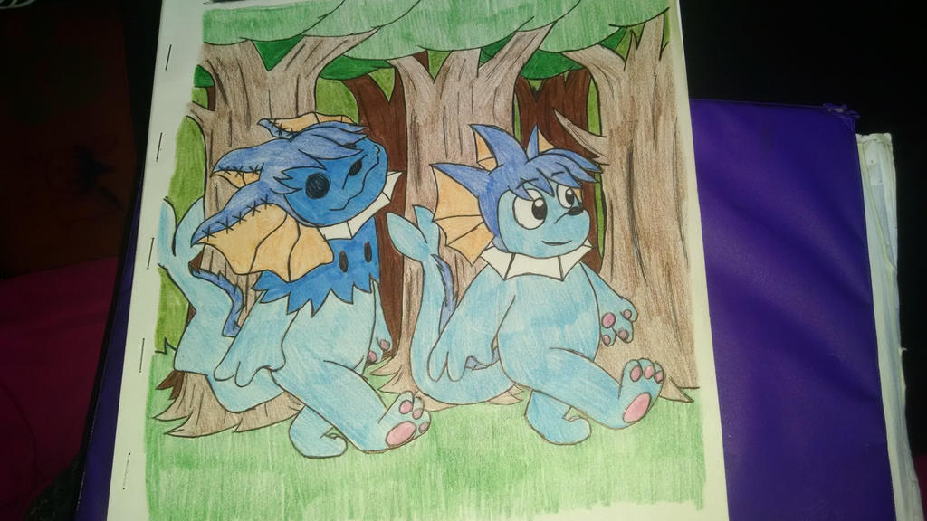 Walking Through the Forest by vaporeon1511