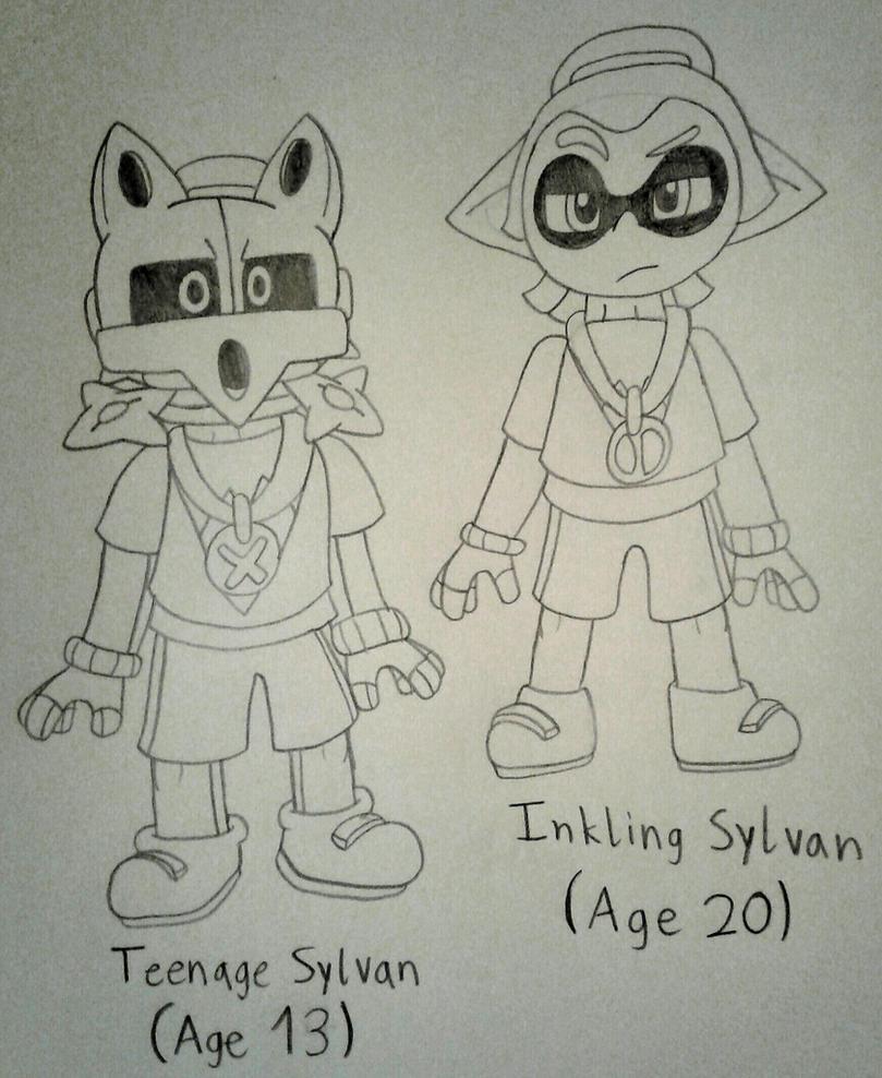 Inkling Sylvan drawing by vaporeon1511