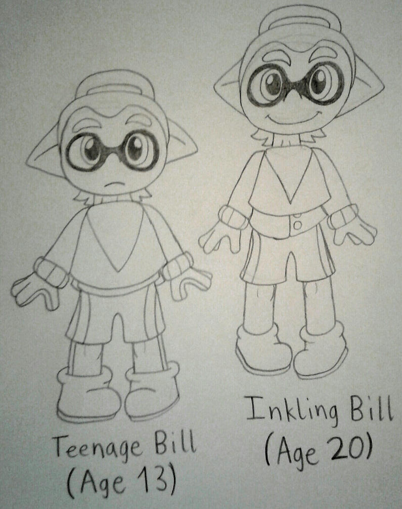 Inkling Bill Drawing by vaporeon1511