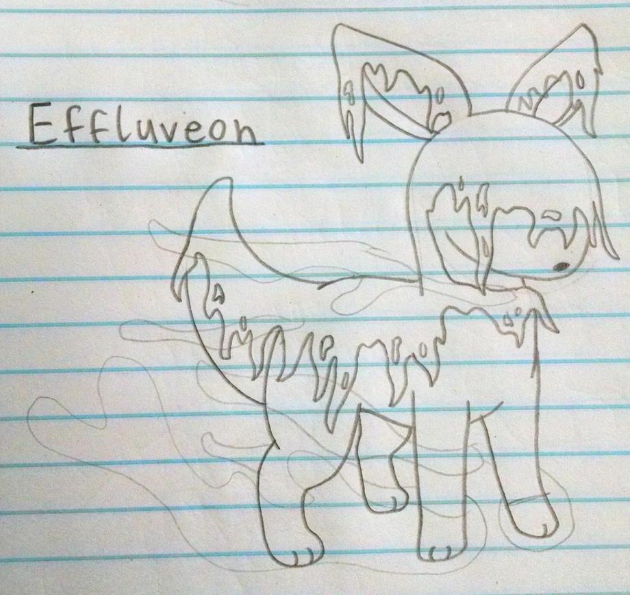 Concept Poison-Type Eeveelution | Effluveon by vaporeon1511