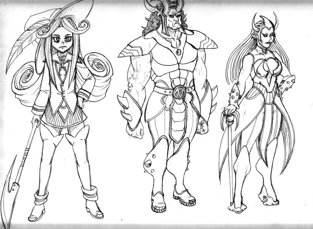 Fantasy sketches 12 by Ragathol