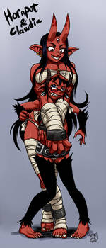 Hornpot and Clawdia