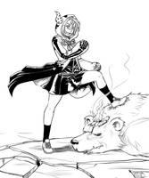 Inkvember 01: Rinon Otometachibana by Ragathol