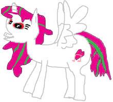 Pink AJ (Drawn Corpulently) by CorpulentBrony