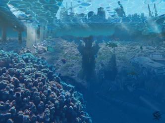 Underwater Junk yard by athorment