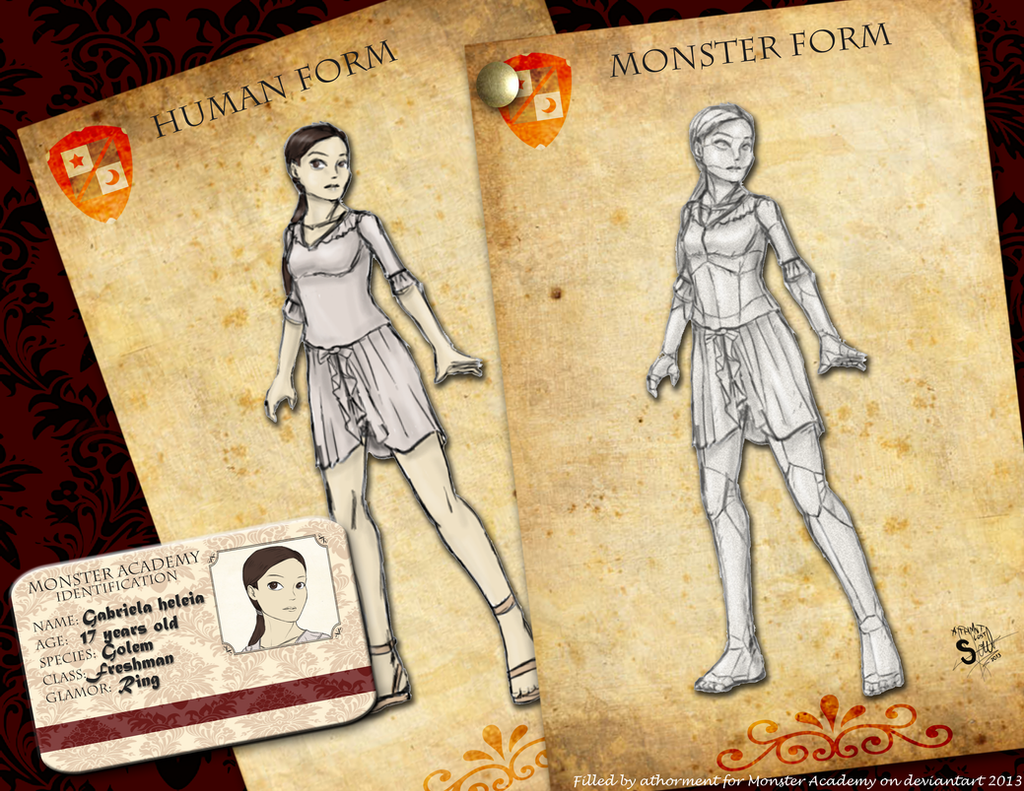 Monster Academy App - Golem Girl by athorment