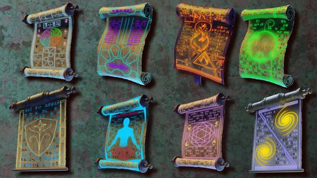 magic scrolls