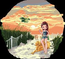 Pokemon at the Beach by Melian-Alcarime