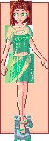 Cera in green by Melian-Alcarime
