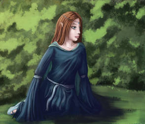 Melian Sitting - Paintover by Melian-Alcarime