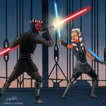 Maul vs Ahsoka - The Clone Wars