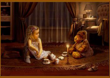 A cup of tea by AnnaMukorina
