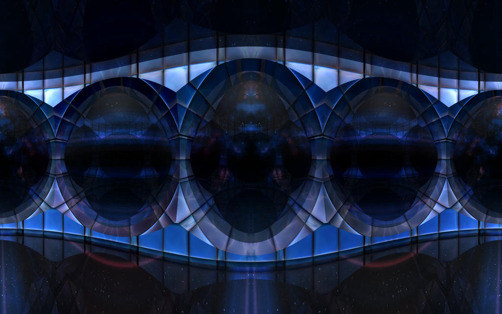 Blue Bridge to Nebulous Dawn by TexManson