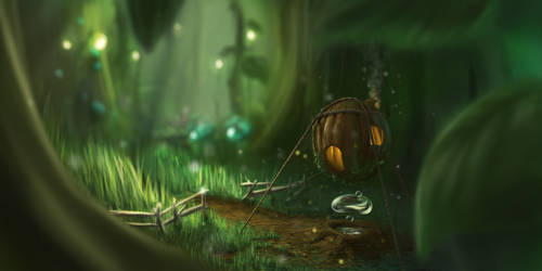 Forest Dwelling by Whitewalloriginal