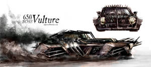 650 Boss Vulture - Mad Max inspired vehicle design by Whitewalloriginal