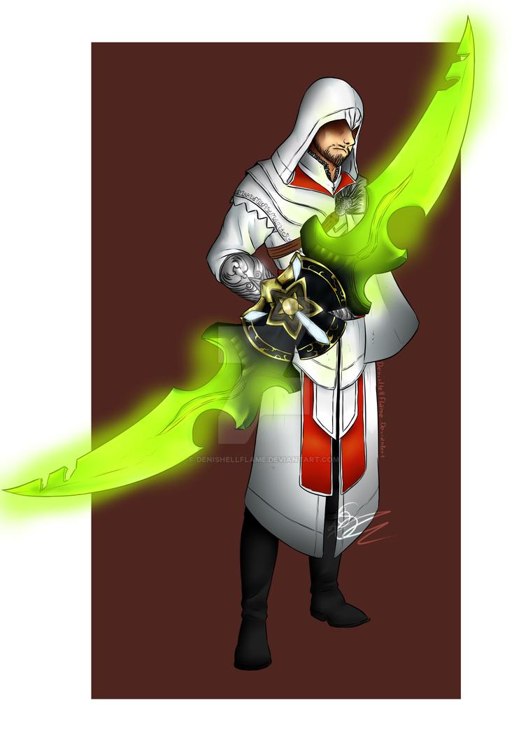 Assassin_and_Demon_Hunter_Blade by Denishellflame
