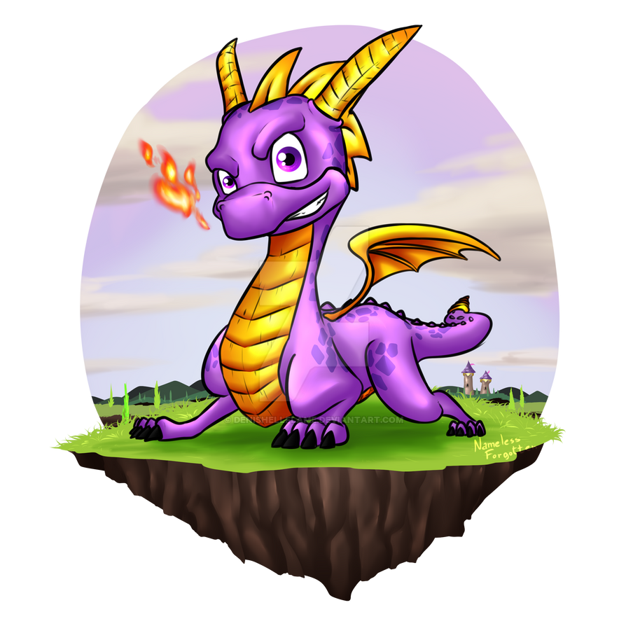 Spyro the Dragon by Denishellflame