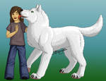 Boy and wolf