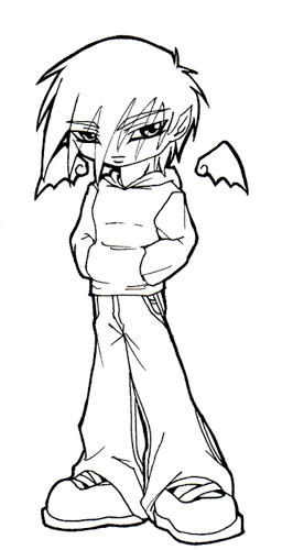 chibi omen w baggy pants by yuraichan on deviantart