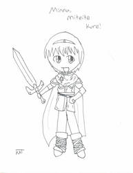 4th Prize - Old School Marth by Black-Kat-55