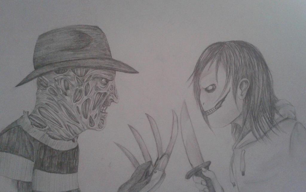 Freddy Krueger vs  Jeff the killer by EmmendalJeff The Killer Vs Freddy Krueger