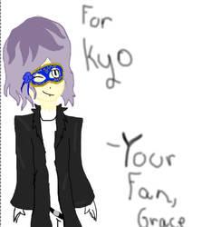 Kyo's fake Garry cosplay drawing by GraceTheOtaku