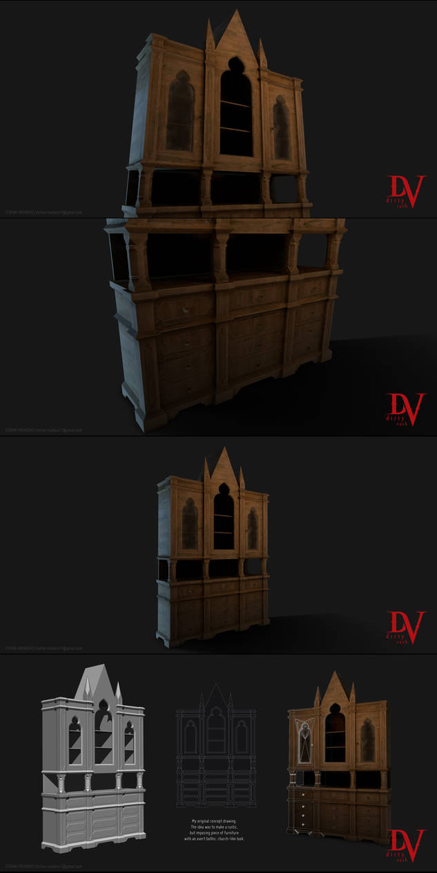 Gothic Cupboard by ivashko