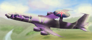 Twilight Sparkle in an AWACS by TatterTailArt