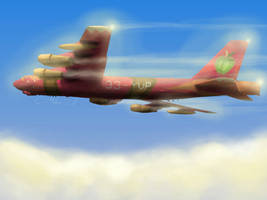 Big Macintosh in a B-52 -V2- by TatterTailArt