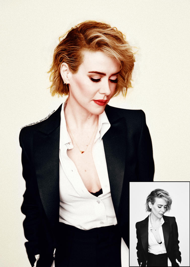 Sarah Paulson | Colorization by lillullabyblue