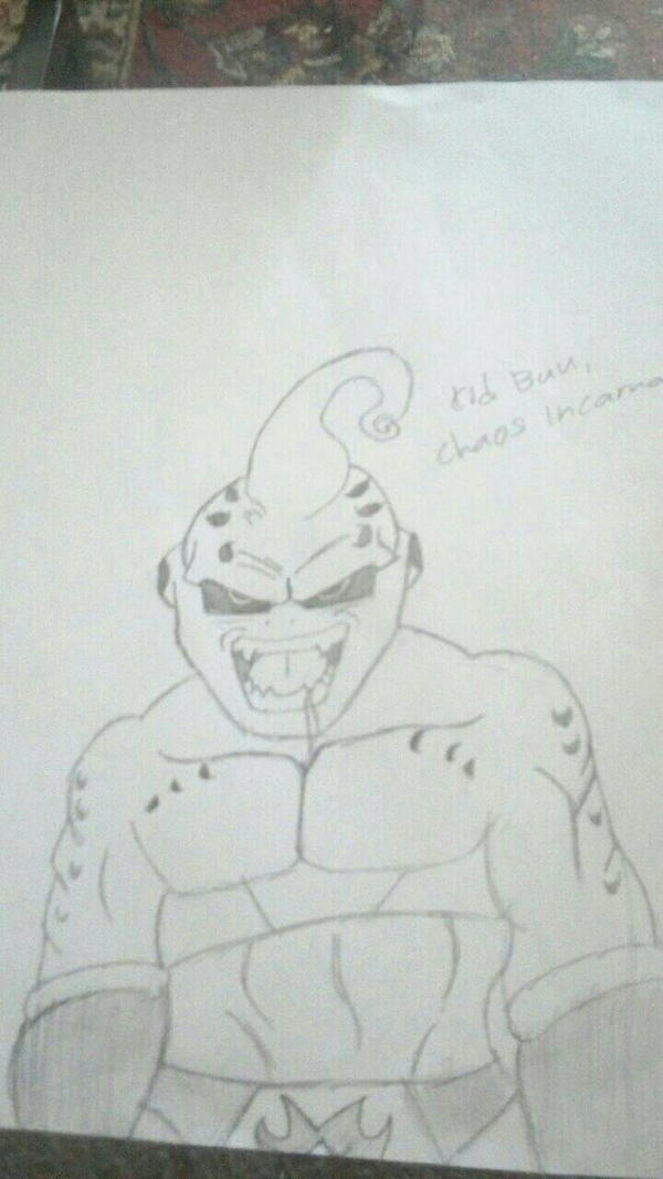 Kid Buu Drawing