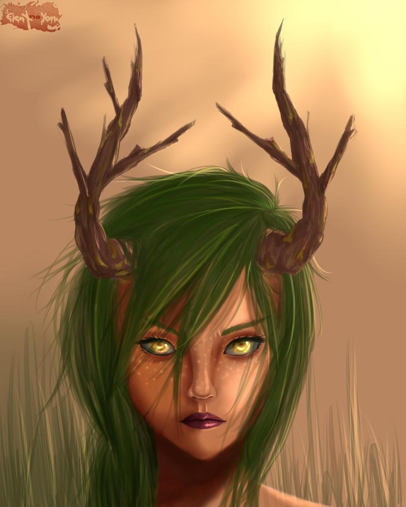 .: Deer Girl :. by Eien-no-Yoru