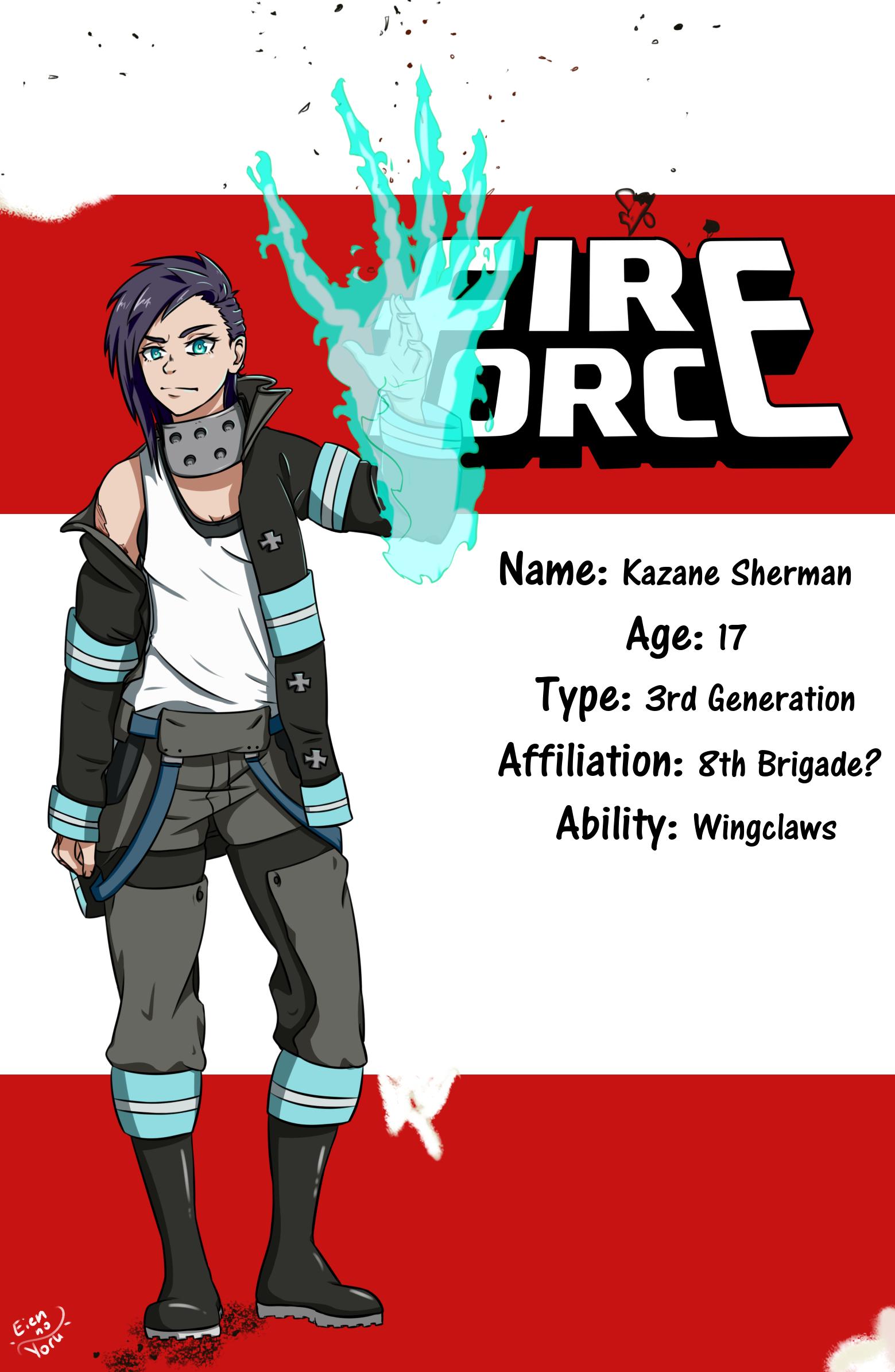 ENS/ Fire Force OC: Kazane Sherman :. by Eien-no-Yoru on DeviantArt