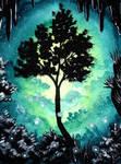 Kakao409 - Tree in blue