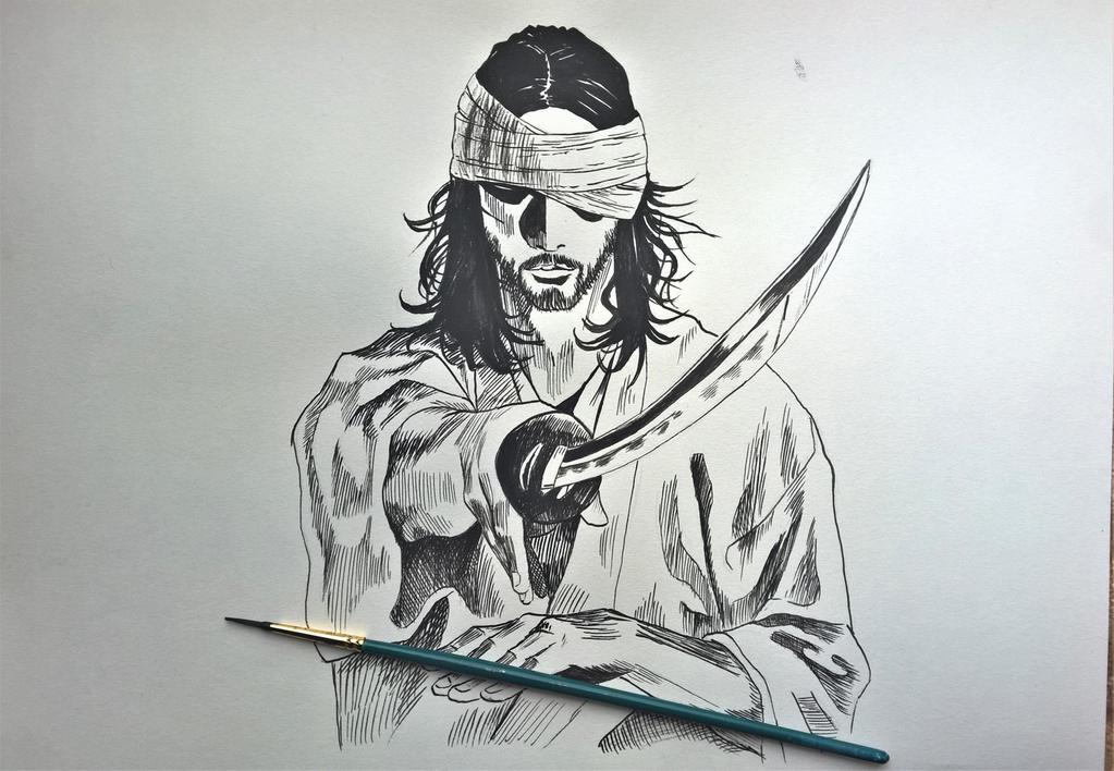 Miyamoto Musashi by Goldahe