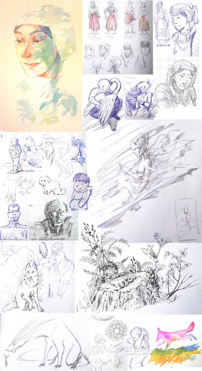 Sketches 6 by housunnappi