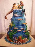 Lost Atlantis Cake by The-EvIl-Plankton