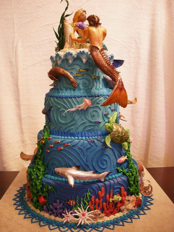 Atlantis Wedding Cake