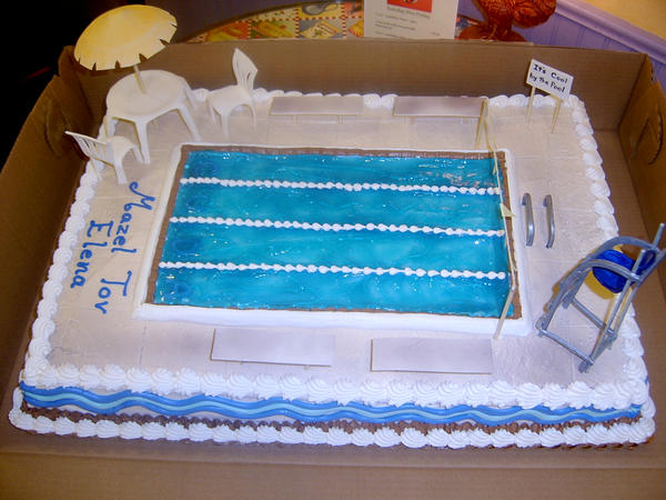 Swimming pool cake by The-EvIl-Plankton on DeviantArt