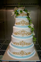 Indian pattern wedding cake by The-EvIl-Plankton