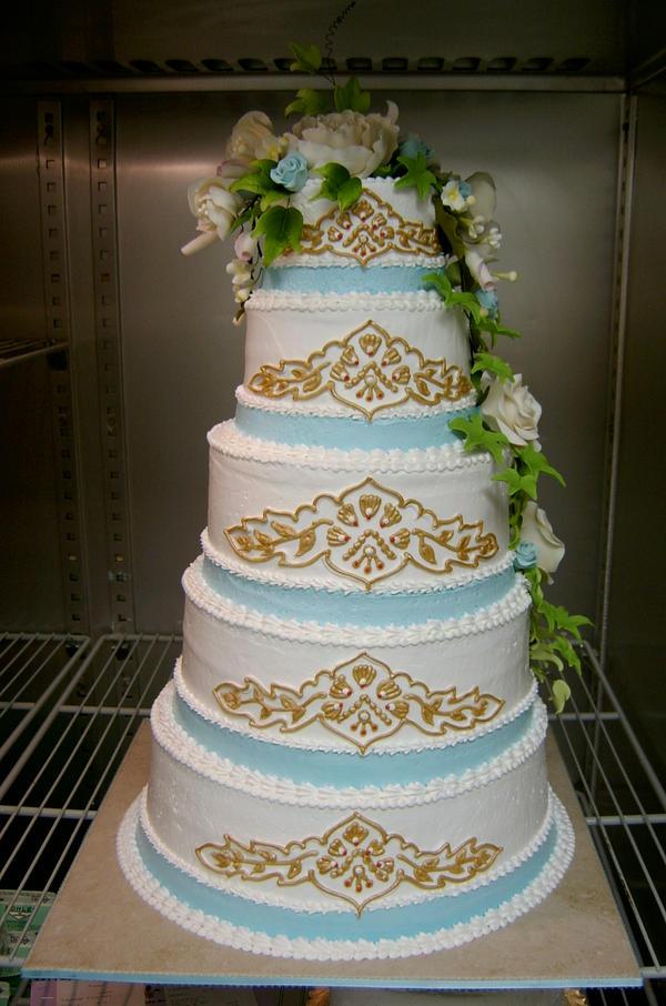 Indian pattern wedding cake by TheEvIlPlankton on deviantART