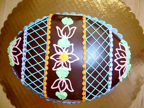 choco ganache easter egg cake by The-EvIl-Plankton