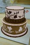 Flower Silloette cake