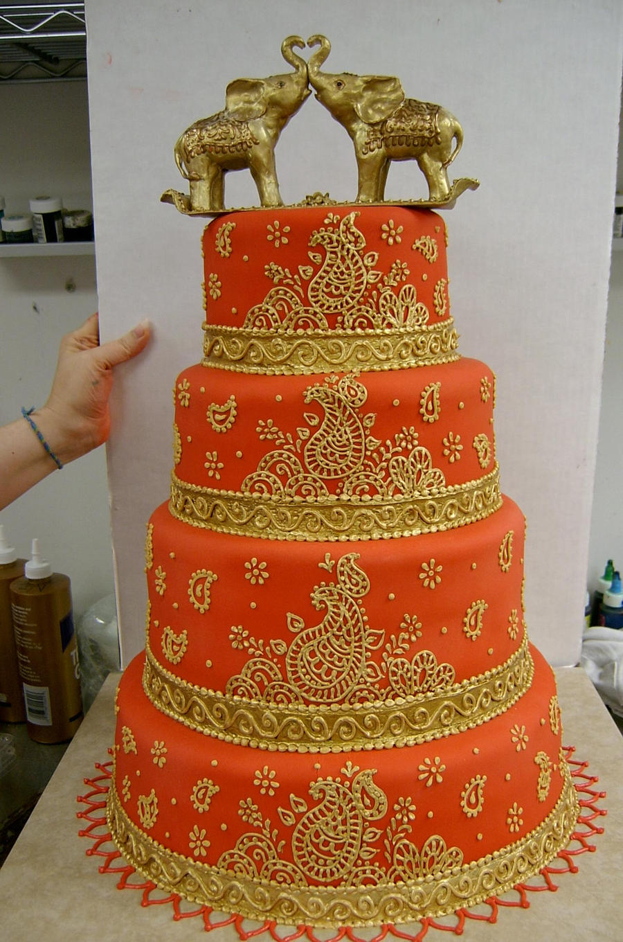 ... Red Indian Wedding Cake By The EvIl Plankton