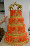 Red Indian wedding cake