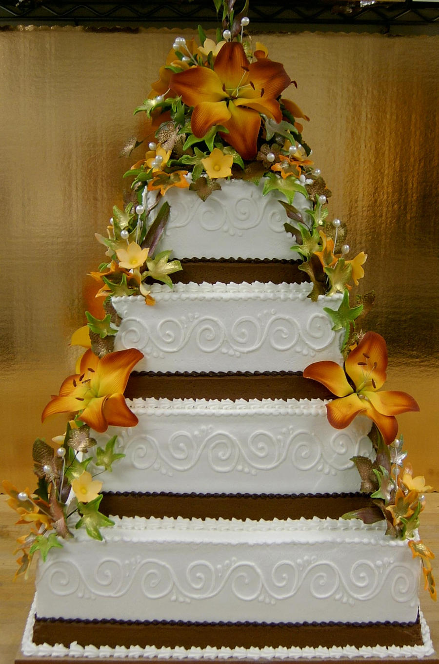 fall theme wedding cakes fall themed wedding cake by the evil plankton on deviantart 14156