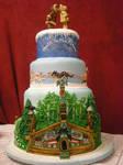 Alaska Wedding Cake Front